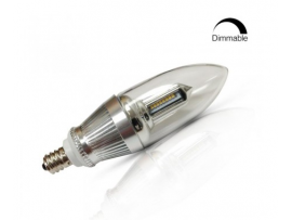 4W Dimmable LED Candle Light - 2700K Warm White E12 Candelabra Bulb - 40W Halogen Replacement - Chandelier Mate